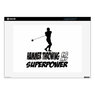 Hammer Throwing Superpower Designs Laptop Skins