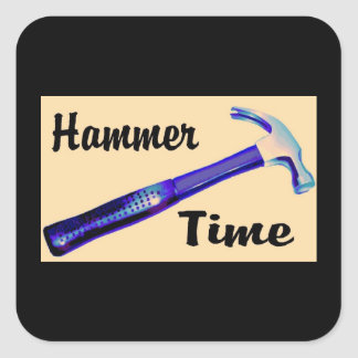 Hammer Time Square Sticker
