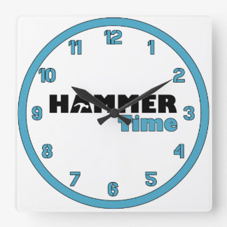 Hammer Time Square Wall Clock