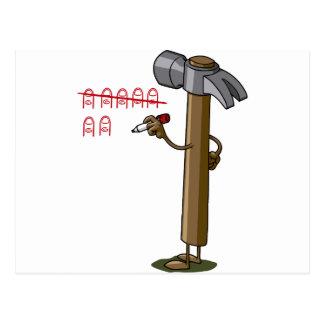 hammer time tarjeta postal