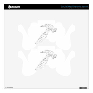 hammer wireframe skin for PS3 controller