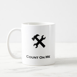 Hammer Wrench Count On Me black Mugs