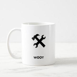 Hammer Wrench w00t black Coffee Mug