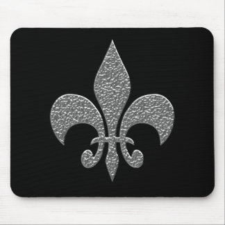 Hammered Alluminum BW Mouse Pad