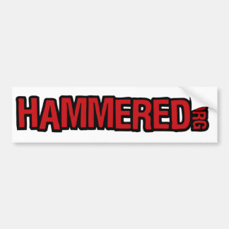 Hammered Bumper Sticker