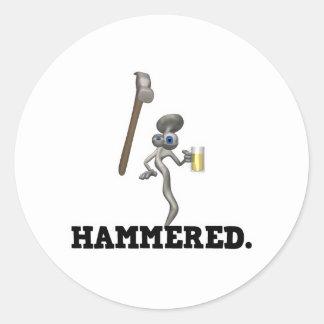 Hammered Classic Round Sticker