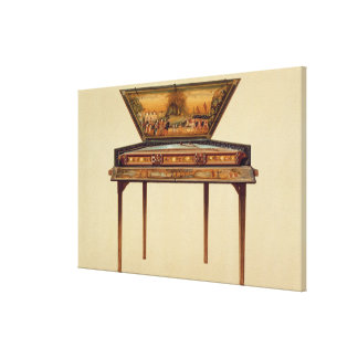 Hammered dulcimer in a painted soundbox, 18th cent canvas print