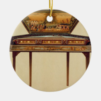 Hammered dulcimer in a painted soundbox, 18th cent Double-Sided ceramic round christmas ornament