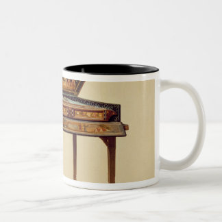 Hammered dulcimer in a painted soundbox, 18th cent Two-Tone coffee mug