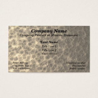 Hammered Metal Appearance Business Card