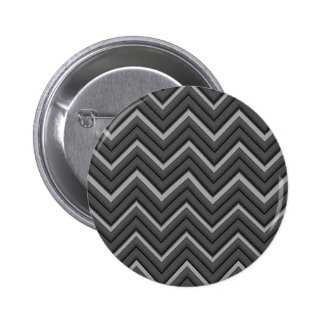 Hammered Metal Chevron City Stripes Button
