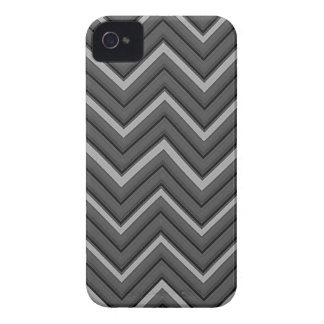 Hammered Metal Chevron City Stripes iPhone 4 Case