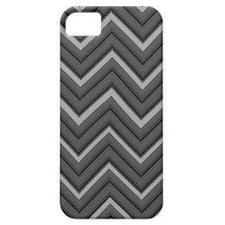 Hammered Metal Chevron City Stripes iPhone SE/5/5s Case