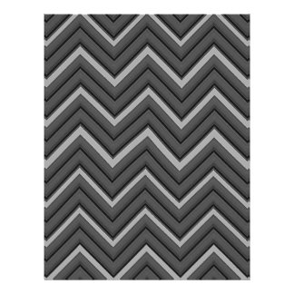 Hammered Metal Chevron City Stripes Letterhead