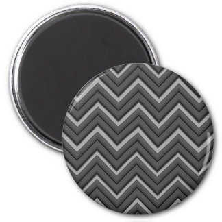 Hammered Metal Chevron City Stripes Magnet