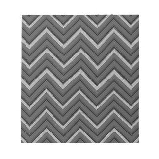 Hammered Metal Chevron City Stripes Notepad