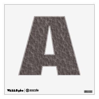 Hammered Metal Look Letters of the Alphabet Wall Sticker