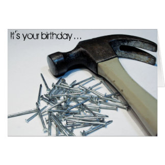 Hammered & Nailed birthday notecard