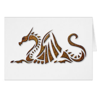 Hammered Rust Dragon Greeting Card