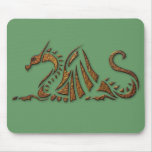 Hammered Rust Dragon Mouse Pad