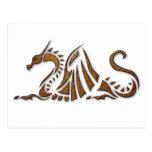 Hammered Rust Dragon Postcard