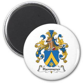 Hammerer Family Crest 2 Inch Round Magnet