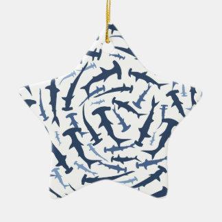 hammerhai hammerhead shark scuba diving ceramic ornament