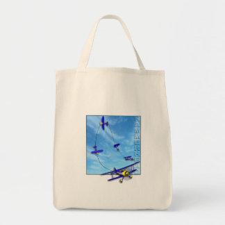 Hammerhead Aerobatic maneuver with Biplane Tote Bag