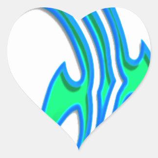 hammerhead pegatina en forma de corazón