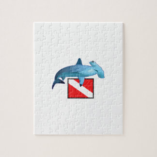 HAMMERHEAD SHARK AND DIVE FLAG PUZZLES