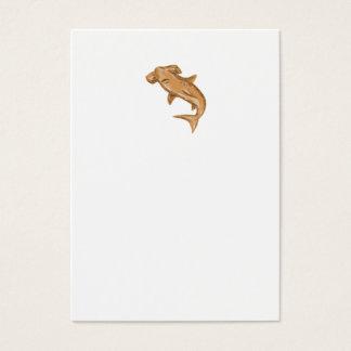 Hammerhead Shark Drawing Business Card