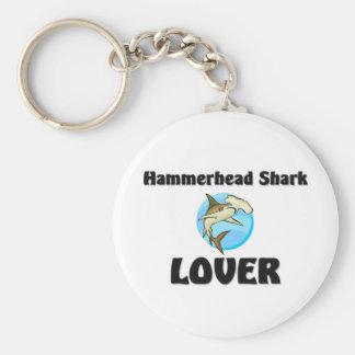 Hammerhead Shark Lover Basic Round Button Keychain