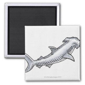Hammerhead Shark Fridge Magnet