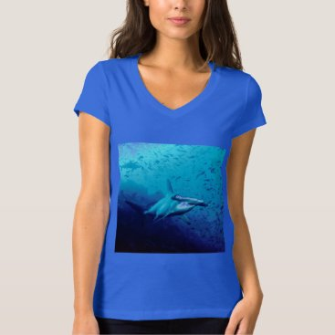 Beach Themed Hammerhead Shark Ocean Tropical Water Fish T-Shirt