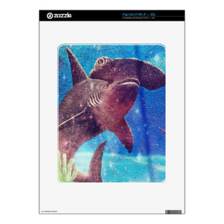 Hammerhead Shark Painting iPad Skin
