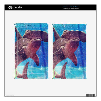 Hammerhead Shark Painting Skins For Kindle Fire