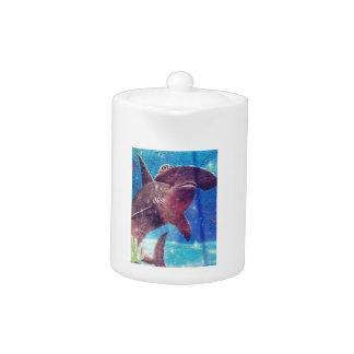 Hammerhead Shark Painting Teapot