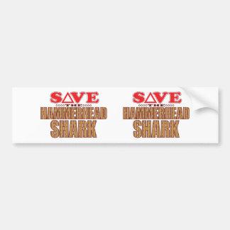 Hammerhead Shark Save Bumper Sticker