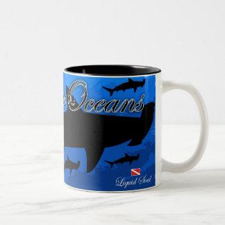HammerHead Shark - Save Our Oceans Two-Tone Coffee Mug