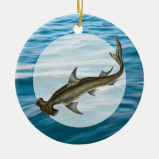 Hammerhead Shark Sea Life Ceramic Ornament