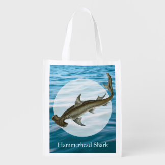 Hammerhead Shark Sea Life Grocery Bag