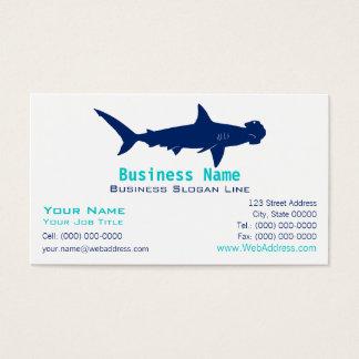 Hammerhead Shark Silhouette Business Card