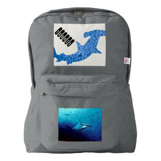 hammerhead shark student school education classes backpack