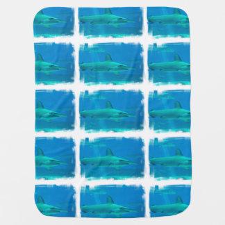 Hammerhead Shark Underwater Baby Blankets