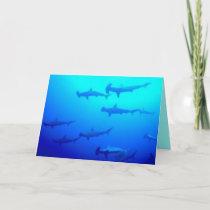 Hammerhead Sharks Greeting Card