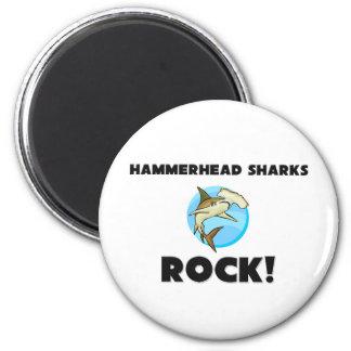 Hammerhead Sharks Rock Refrigerator Magnet