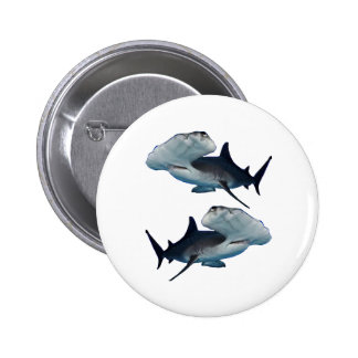 HAMMERHEADS BY TWO PINBACK BUTTON