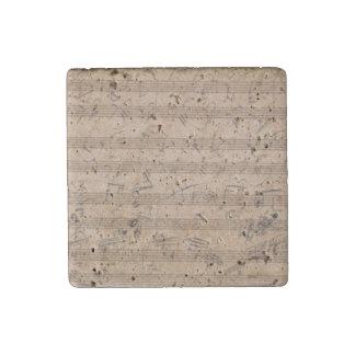 Hammerklavier Sonata Beethoven Original Score Stone Magnet