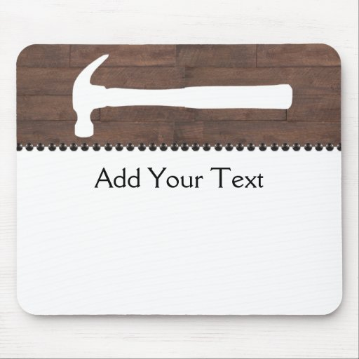 Hammers and Nails Construction Mouse Pad