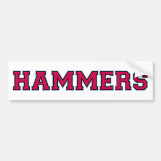 hammers bumper sticker